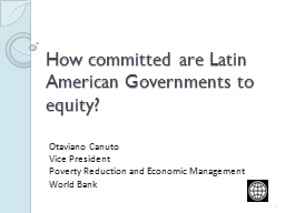 How committed are Latin American Governments to equity?
