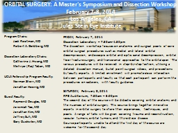 ORBITAL SURGERY: A Master's Symposium and Dissection