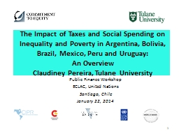 The Impact of Taxes and Social Spending on Inequality and P