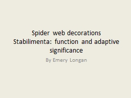 Spider web decorations or PowerPoint PPT Presentation