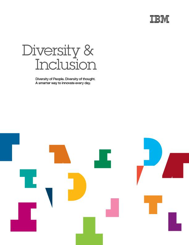 Diversity &InclusionDiversity of People. Diversity of thought.A smarte