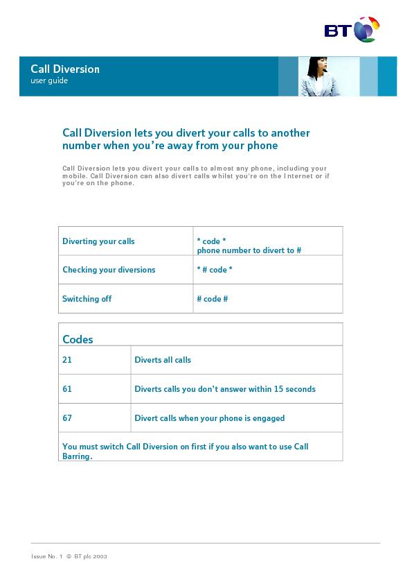 Diverting your calls