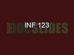 INF 123