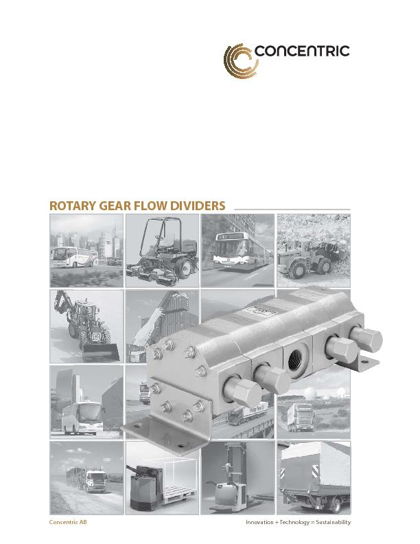 ROTARY GEAR FLOW DIVIDERS