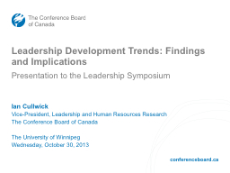 Leadership Development Trends: Findings and Implications