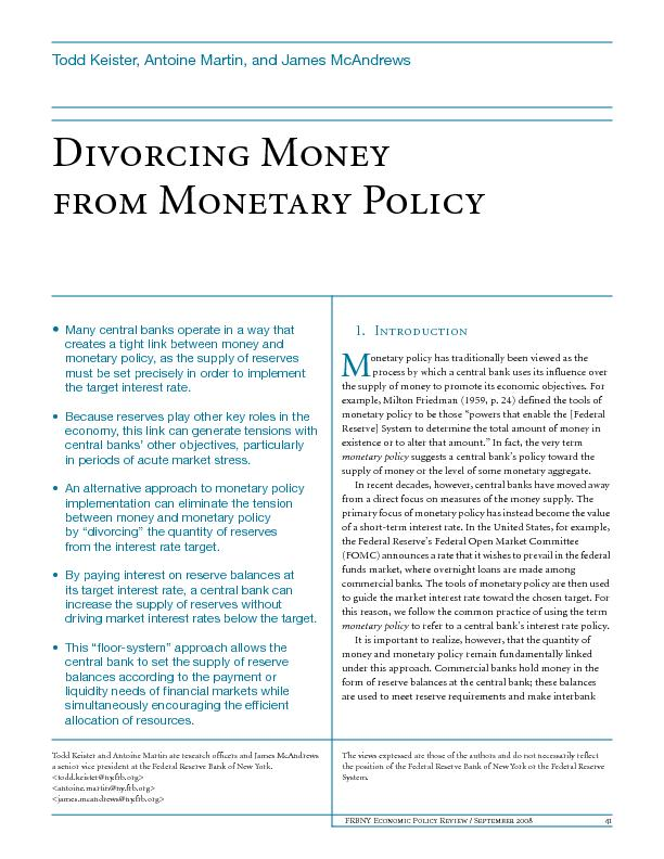 FRBNY Economic Policy Review / September 200841