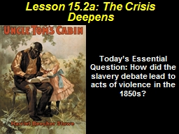 Lesson 15.2a: The Crisis Deepens