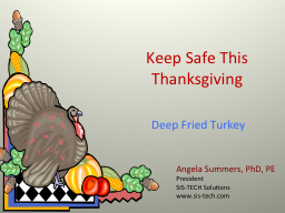 Keep Safe This Thanksgiving PowerPoint PPT Presentation