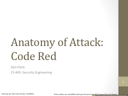 Anatomy of Attack: Code Red PowerPoint PPT Presentation