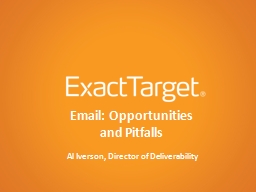 Email: Opportunities PowerPoint PPT Presentation