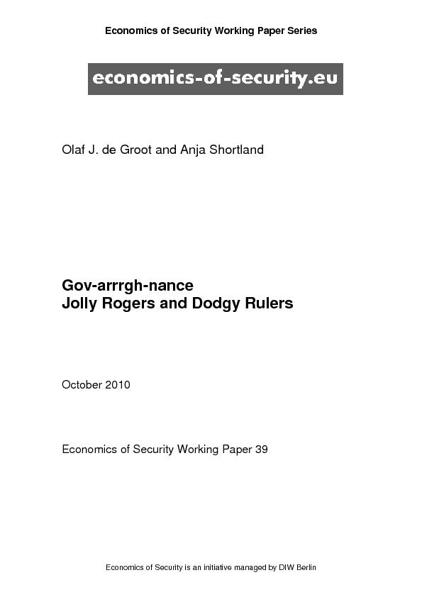 Economics of Security Working Paper Series Economics of Security is an