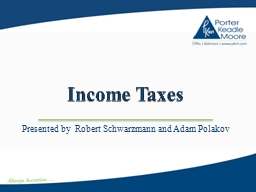 Income Taxes PowerPoint PPT Presentation