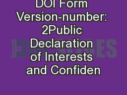 Declaration of relevant financial interests or for Conflict of interest declaration template