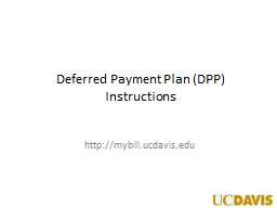 Deferred Payment Plan (DPP) PowerPoint PPT Presentation