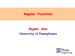 Regular Functions