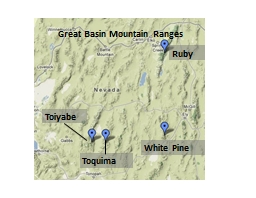 Great Basin Mountain Ranges