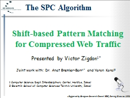 Shift-based Pattern Matching for Compressed Web Traffic PowerPoint PPT Presentation