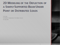2D Modeling of the Deflection of a Simply Supported Beam Un PowerPoint PPT Presentation