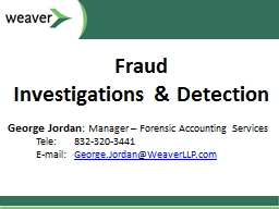 Fraud PowerPoint PPT Presentation