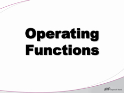 Operating Functions