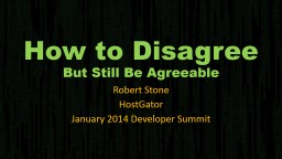How to Disagree PowerPoint PPT Presentation