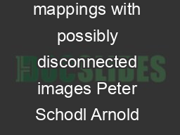 Continuity notions for multivalued mappings with possibly disconnected images Peter Schodl Arnold Neumaier Universitat Wien Nordbergstr