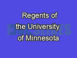 Regents of the University of Minnesota