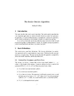 The InsideOutside Algorithm Michael Collins  Introduction This note describes th PDF document - DocSlides