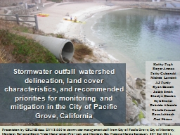 Stormwater outfall watershed