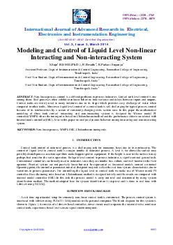 ISSN Print    ISSN Online   nternational ournal of dvan ced esearch in lectrical lectronics and nstrumentation ngineering An ISO   Certified Organization Vol