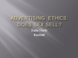 Advertising ethics: Does sex sell?