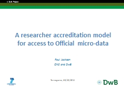 A researcher accreditation model for access to Official mic