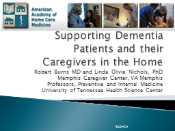 Supporting Dementia Patients and their Caregivers in the Ho