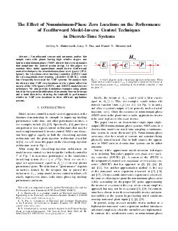 The Effect of NonminimumPhase Zero Locations on the Perform ance of Feedforward ModelInverse Control Techniques in DiscreteTime Systems Jeffrey A