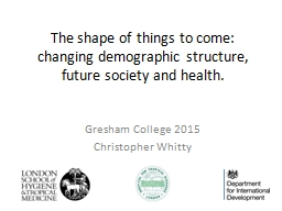 The shape of things to come:  changing demographic structur