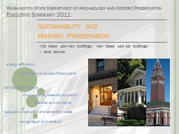 Sustainability and