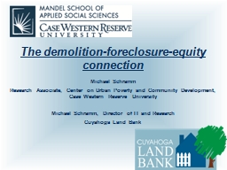 The demolition-foreclosure-equity