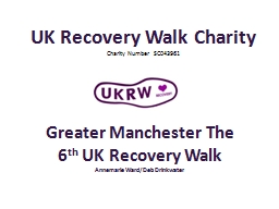UK Recovery Walk Charity