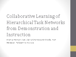 Collaborative Learning of Hierarchical Task Networks from D