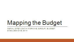 Mapping the Budget PowerPoint PPT Presentation