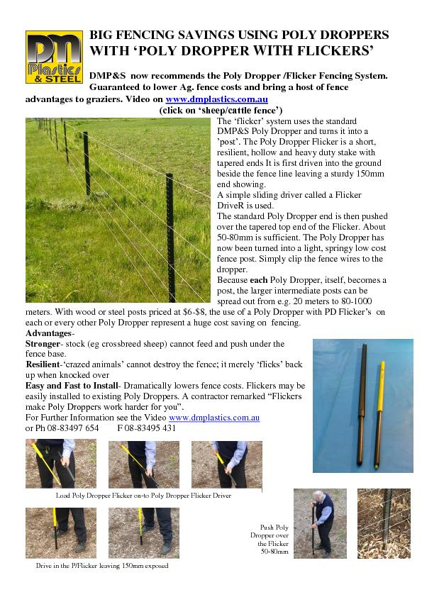 BIG FENCING SAVINGS USING POLY DROPPERS