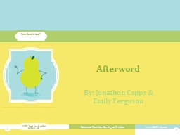 Afterword PowerPoint PPT Presentation