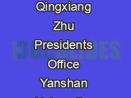 Optimization of Office Automation Sy stem in University and College Based on VSM Lijie Jia  Qingxiang Zhu Presidents Office Yanshan University  Qinhuangdao China Economics and Management School Yansh PowerPoint PPT Presentation