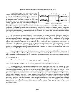 Transmitted Port Coupled Port Input Port Isolated Port  Coupling factor dB  log