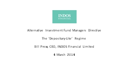 Alternative Investment Fund Managers Directive