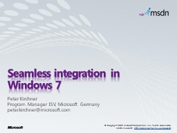 Seamless integration in Windows 7