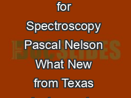 White Paper DLPA February  Texas Instruments DLP Technology for Spectroscopy Pascal Nelson What New from Texas Instruments Texas Instruments DLP Products has launched the first ever nearinfrared micr