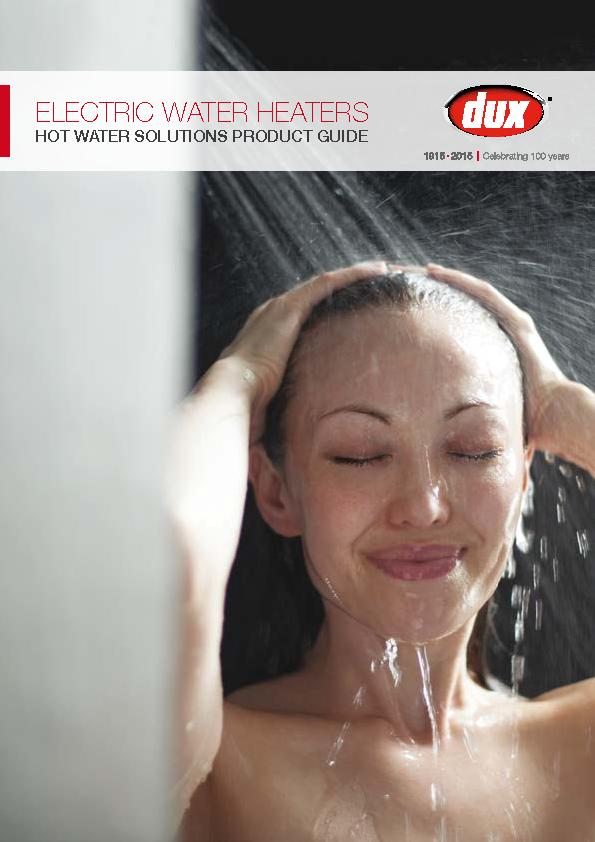 ELECTRIC WATER HEATERSHOT WATER SOLUTIONS PRODUCT GUIDE