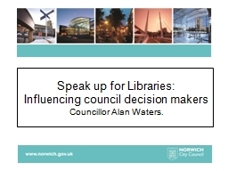 Speak up for Libraries: PowerPoint PPT Presentation