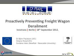 Proactively Preventing Freight Wagon Derailment